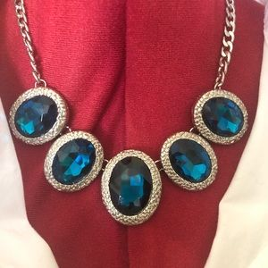 ✨💙Erica Lyons Signed Sapphire Statement Necklace✨